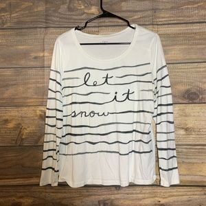 LOFT | Let It Snow Long Sleeve T-shirt